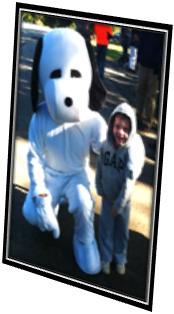 Josiah with Snoopy
